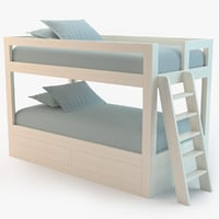 kids bunk bed 3d max