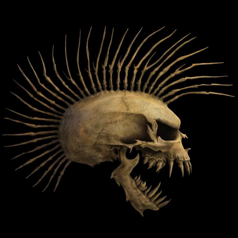 Resultado de imagem para punk skull