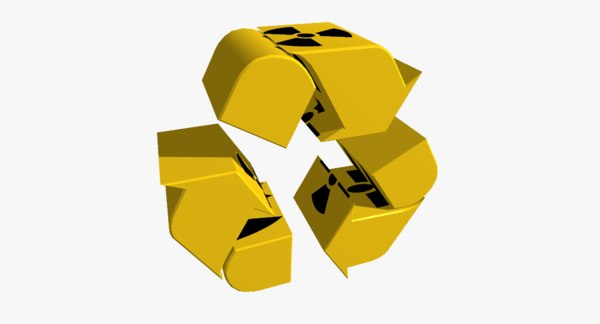 recycle logo radiation obj