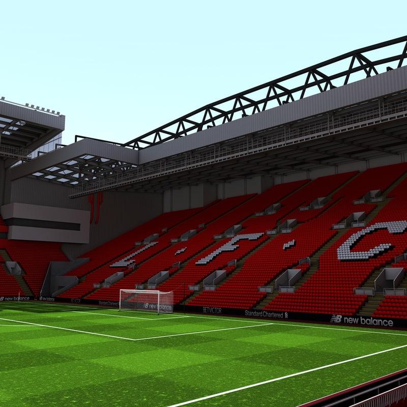 anfield stadium 3d model