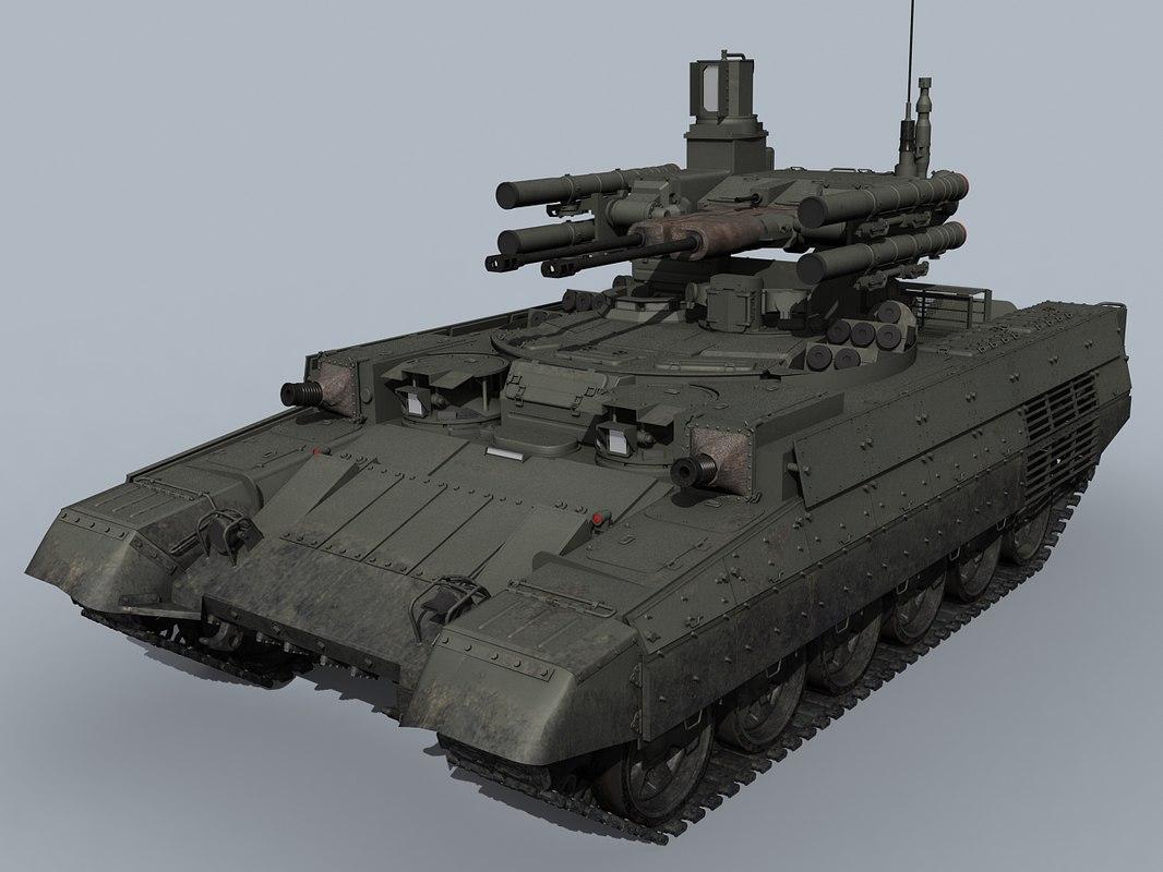 russian bmpt tank 3d max