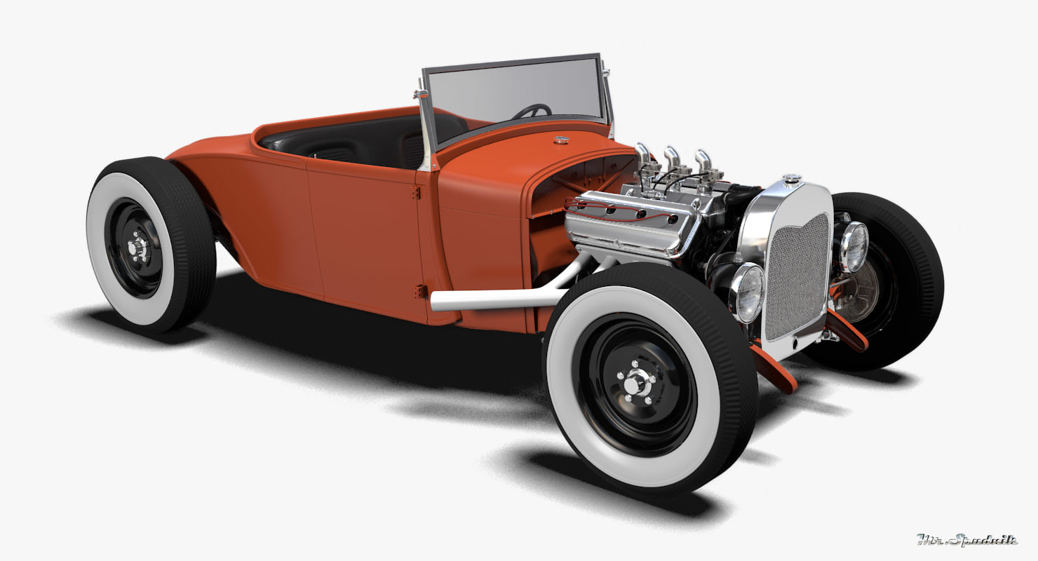 hot rod roadster obj