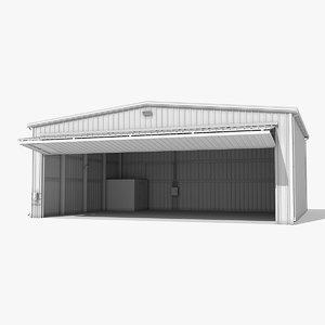aircraft hangar 3d model