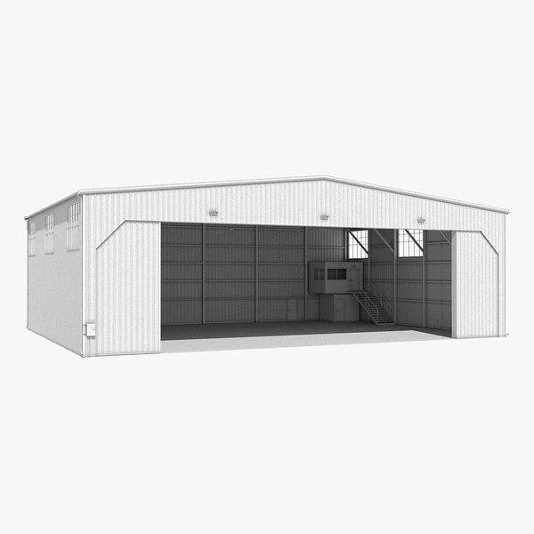 3d model aircraft hangar
