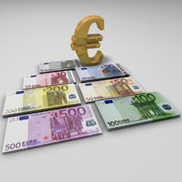 cinema4d euro banknotes