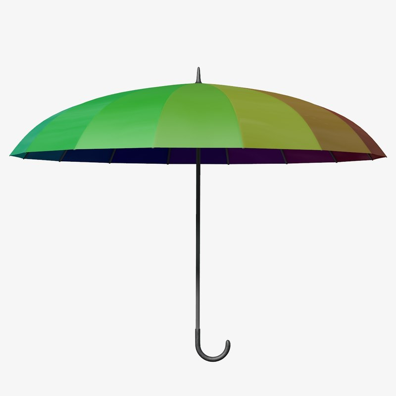 obj colorful umbrella