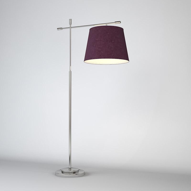 3d chelsom boston floor lamp model