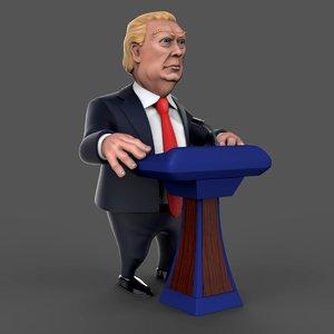 3D model donald trump
