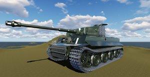 tiger interior exterior 3D model