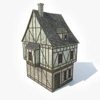 3d model medieval house