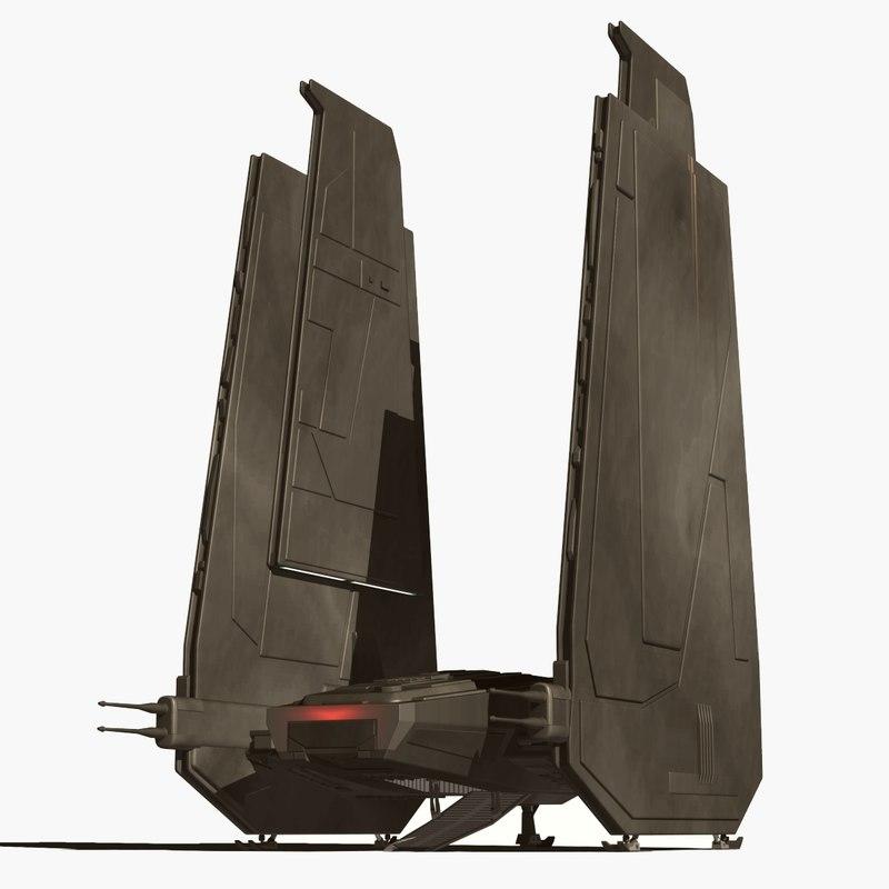 kylo rens ship 3d model