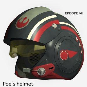 3d poe dameron helmet