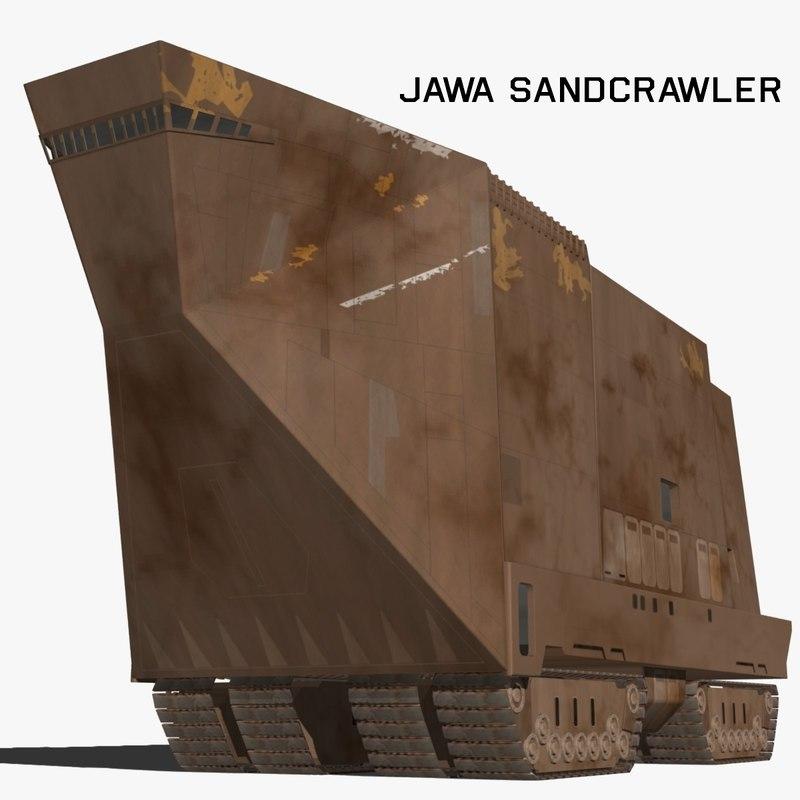 3d model jawa sandcrawler