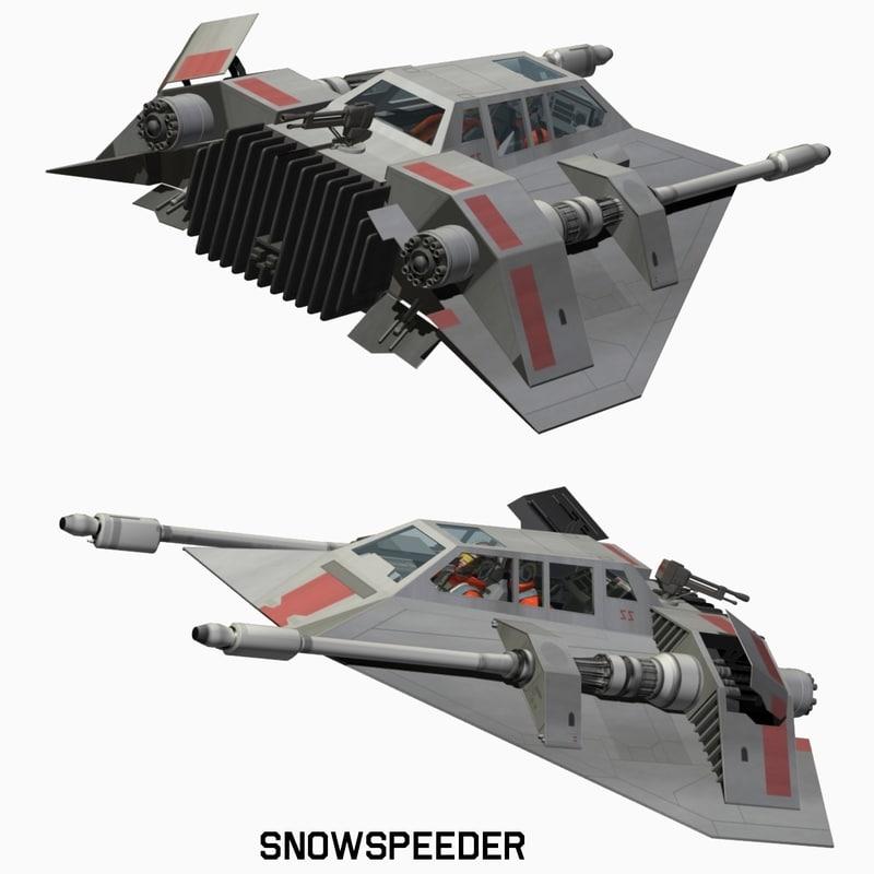 Snowspeeder Star Wars Max