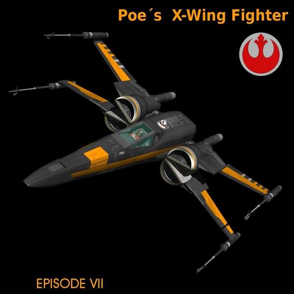 black star fighters 3d obj