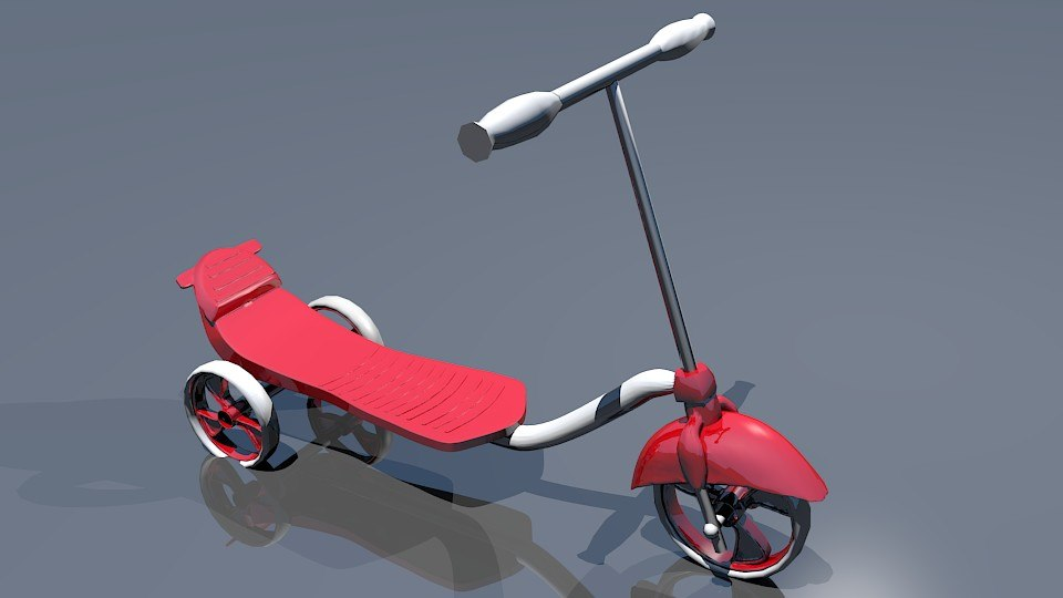 3d model kick scooter