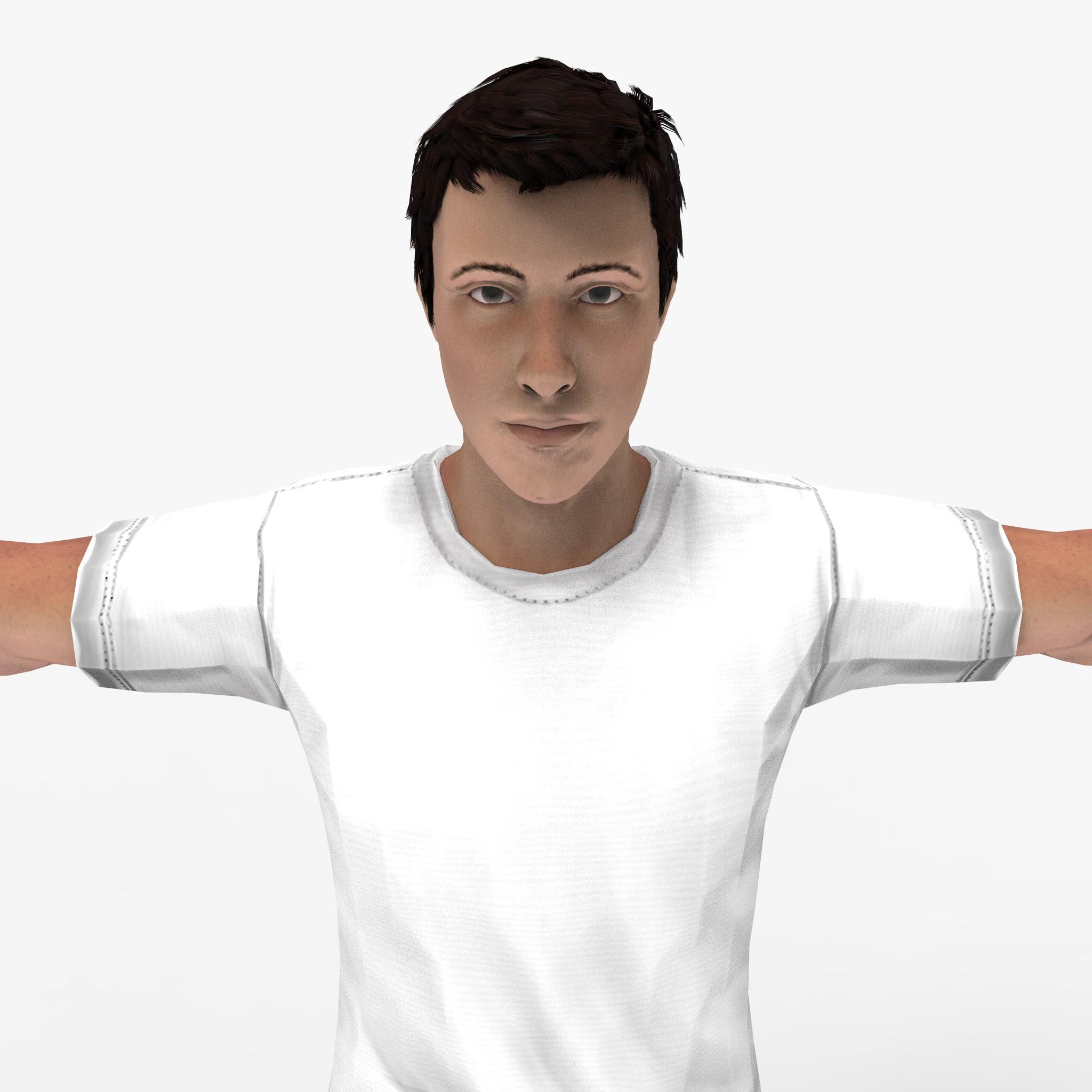 3d model of human man