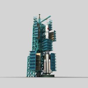 satellite tower 3D model