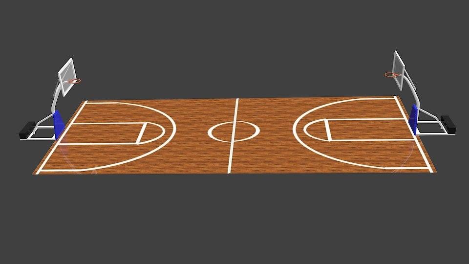 free blend mode basketball field plane