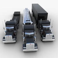Semi-trailer Trucks Set