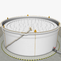 crude oil storage tank 3d max