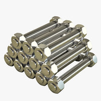 Pile of threaded rods