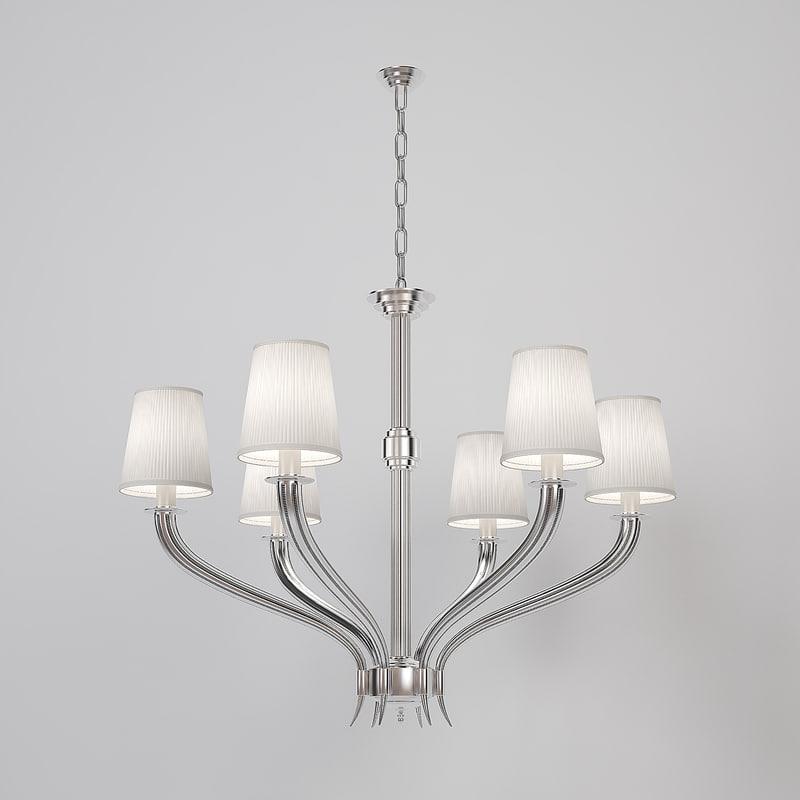 3d model chandelier mayflower eichholtz