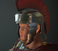 3d character roman soldier model