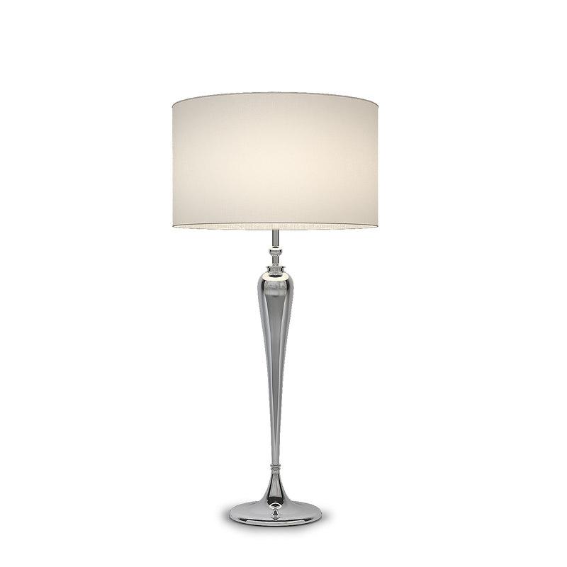 3dsmax chelsom connoisseur nickel floor lamp