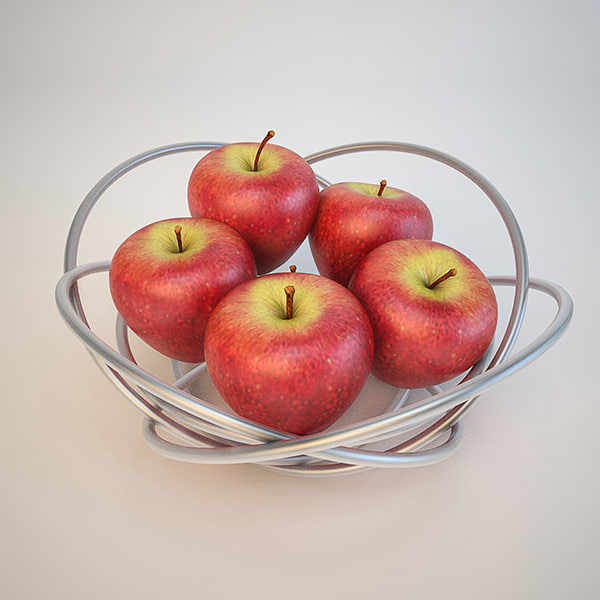 fruit bowl apple 3D