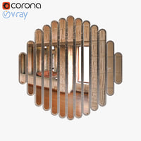 max realistic abate slatted mirror