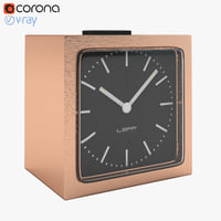 3d model realistic block copper clock