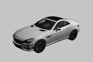 mercedes sport car 3D model