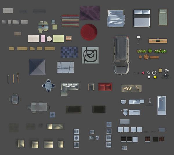 Texture Other 2d Furniture Floorplan