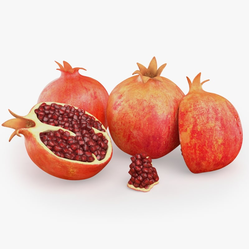 3d model photorealistic pomegranate realistic real