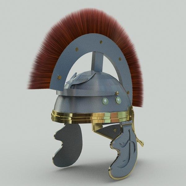 3ds max roman helmet