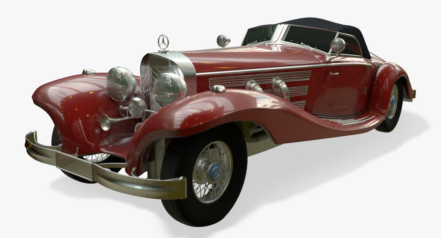 3d model mercedes-benz 500k
