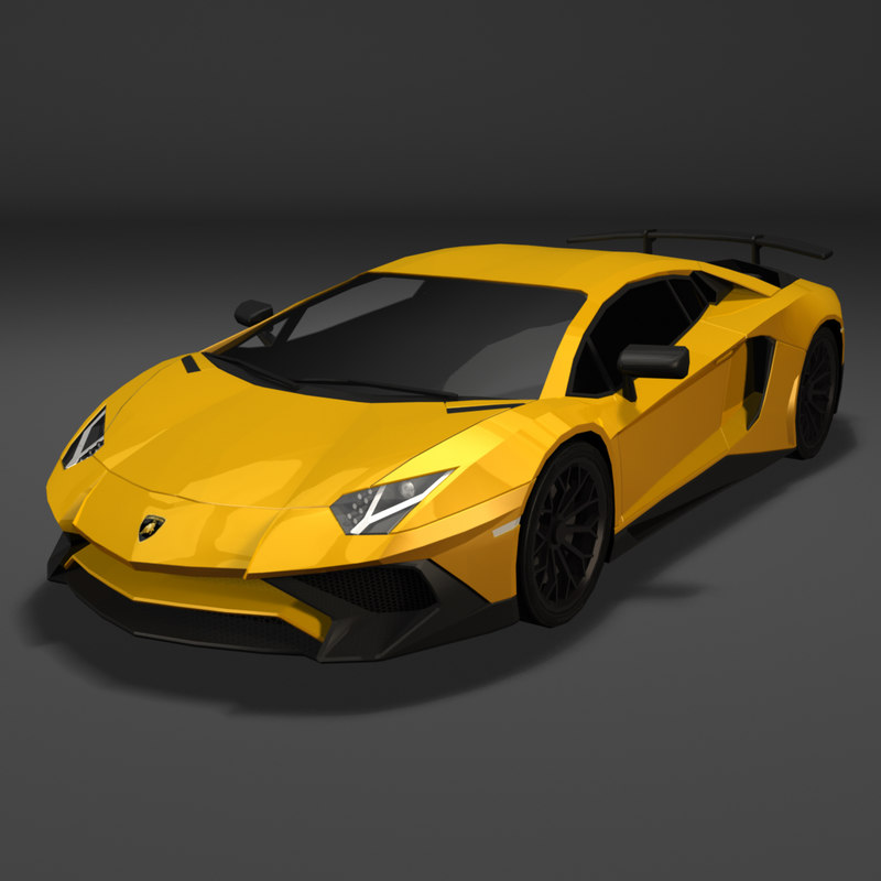 3d Lamborghini Aventador Model