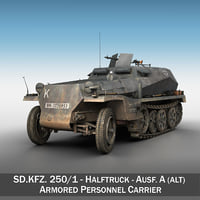 SD.KFZ 250 - Half-track troop carrier