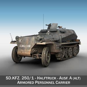 sd kfz 250 1 3d 3ds