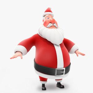 funny santa 3d obj