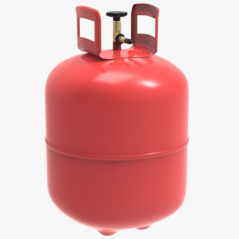 3D helium gas container