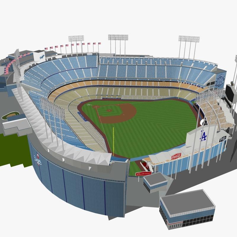 3d dodger stadium seats