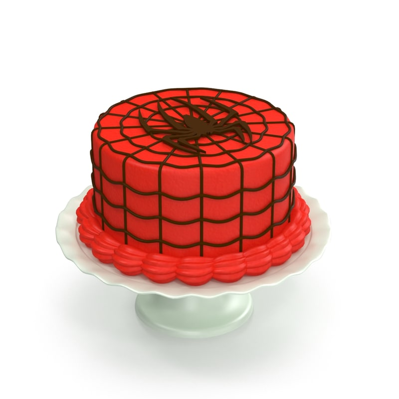 3d spiderman cake