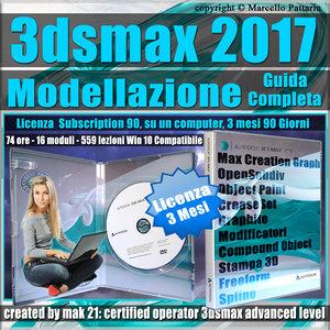 Corso 3ds max 2017 Modellazione Guida Completa 3 mesi Subscription 1 Computer