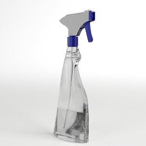 liquid spray bottle 3d model