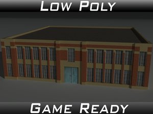 victorian warehouse factory building 3d 3ds