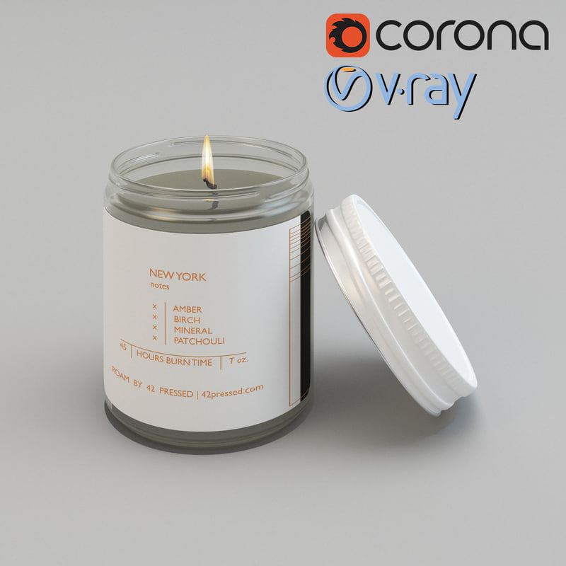 realistic pressed roam candle 3d max