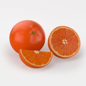 max photorealistic sicilian orange fruits