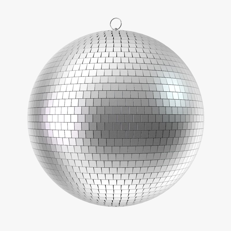 3d model of disco ball